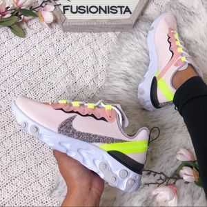 NWT 🍭 Rare Nike React Element 55 Light Pink 7W